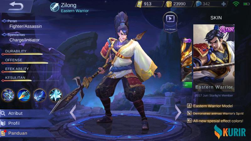 Build Zilong Terbaik di Mobile Legends